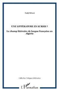 Cover Une litterature en sursis?
