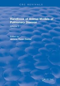 Cover CRC Handbook of Animal Models of Pulmonary Disease