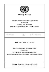 Cover Treaty Series 3005/Recueil des Traités 3005