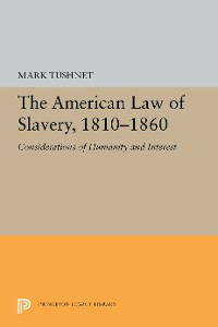 Cover The American Law of Slavery, 1810-1860