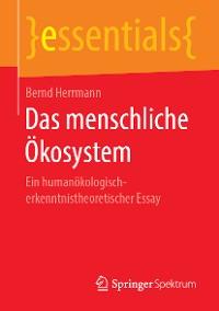 Cover Das menschliche Ökosystem