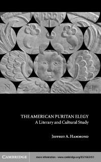 Cover American Puritan Elegy