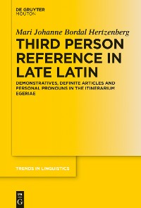Cover Third Person Reference in Late Latin