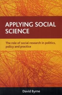 Cover Applying social science