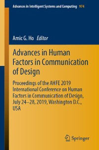 Cover Advances in Human Factors in Communication of Design