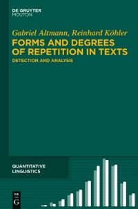 Cover Forms and Degrees of Repetition in Texts