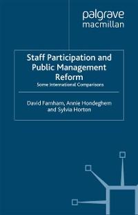 Cover Staff Participation and Public Management Reform
