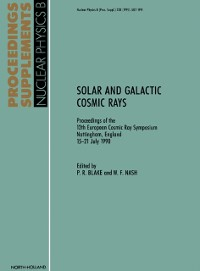 Cover Solar and Galactic Cosmic Rays