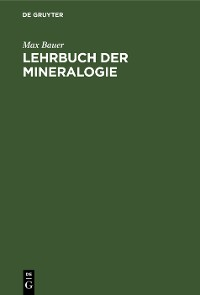 Cover Lehrbuch der Mineralogie