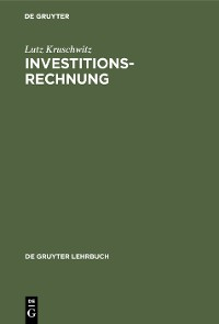 Cover Investitionsrechnung