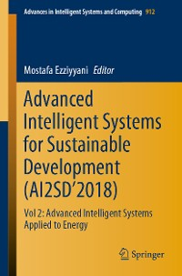 Cover Advanced Intelligent Systems for Sustainable Development (AI2SD'2018)