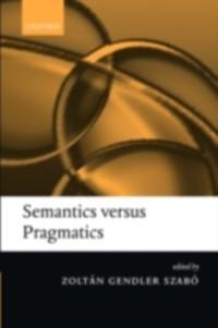 Cover Semantics versus Pragmatics