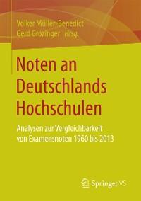 Cover Noten an Deutschlands Hochschulen