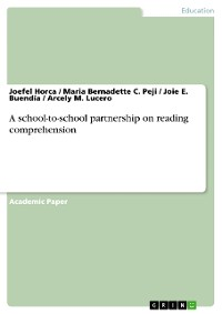 Cover A school-to-school partnership on reading comprehension