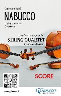 Cover Nabucco (overture) String Quartet - Score