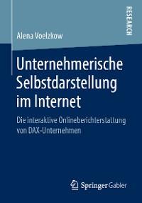 Cover Unternehmerische Selbstdarstellung im Internet