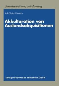 Cover Akkulturation von Auslandsakquisitionen