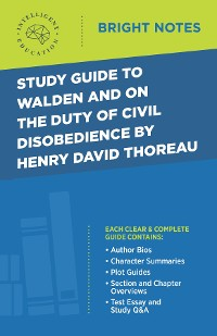Cover Study Guide to Walden and On the Duty of Civil Disobedience by Henry David Thoreau