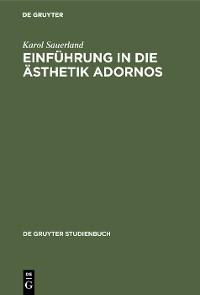 Cover Einführung in die Ästhetik Adornos