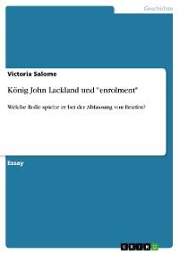 "Cover König John Lackland und ""enrolment"""