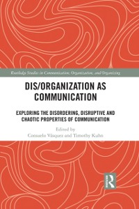 Cover Dis/organization as Communication