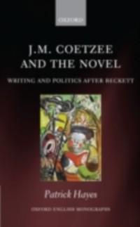 Cover J.M. Coetzee and the Novel