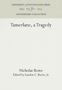 Cover Tamerlane, a Tragedy