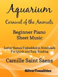 Cover Aquarium Carnival of the Animals Beginner Piano Sheet Music