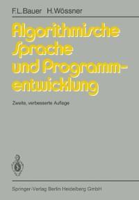 Cover Algorithmische Sprache und Programmentwicklung