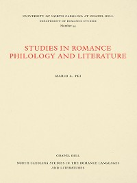 Cover Studies in Romance Philology and Literature