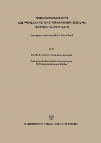 Cover Flammenspektralanalytische Untersuchung der Ferritzusammensetzung in Stahlen