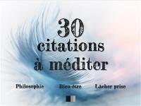 Cover 30 citations à méditer