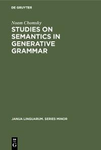 Cover Studies on Semantics in Generative Grammar
