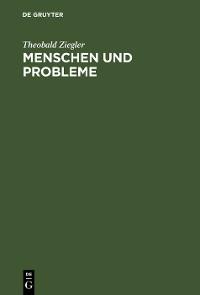 Cover Menschen und Probleme