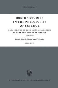Cover Proceedings of the Boston Colloquium for the Philosophy of Science 1966/1968