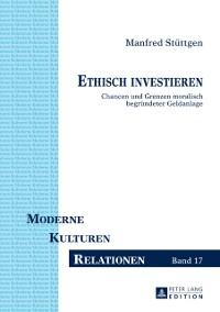 Cover Ethisch investieren