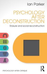 Cover Psychology After Deconstruction