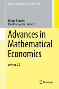 Cover Advances in Mathematical Economics