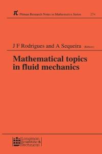 Cover Mathematical Topics in Fluid Mechanics