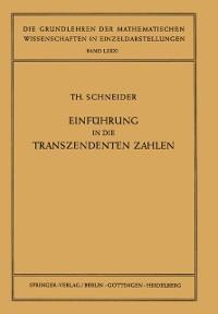 Cover Einfuhrung in die Transzendenten Zahlen