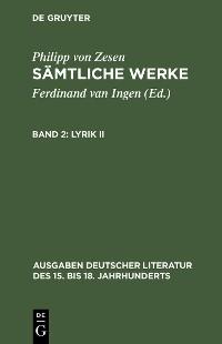 Cover Lyrik II