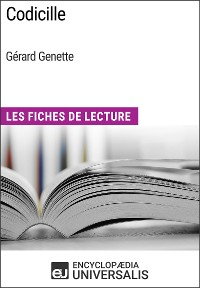Cover Codicille de Gérard Genette