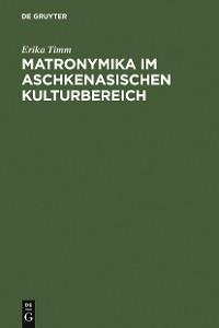 Cover Matronymika im aschkenasischen Kulturbereich