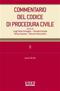 Cover Commentario del Codice di procedura civile. II - artt. 99-162