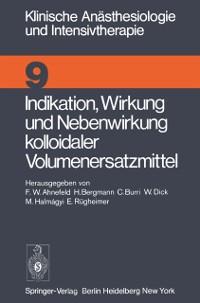 Cover Indikation, Wirkung und Nebenwirkung kolloidaler Volumenersatzmittel