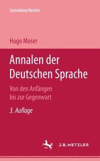Cover Annalen der deutschen Sprache