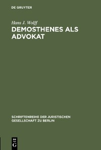 Cover Demosthenes als Advokat