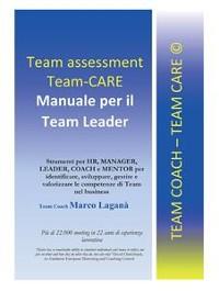 Cover Team Assessment Team-CARE - Manuale per Team Leader
