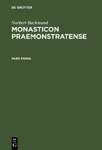 Cover Monasticon Praemonstratense