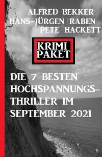 Cover Die besten 7 Hochspannungs-Thriller im September 2021: Krimi Paket